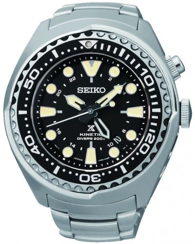 Mens Seiko Prospex kinetic diver steel SUN019P1 Watch