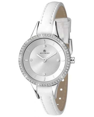 Womens Accurist Contemporary White leather strap 8040.00 Watch