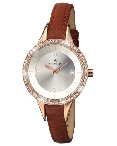 Womens Accurist Contemporary Rose gold crystal set 8043.00 Watch