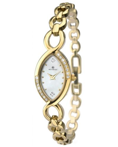 Womens Accurist Dress Mother of pearl gold plated 8048.00 Watch