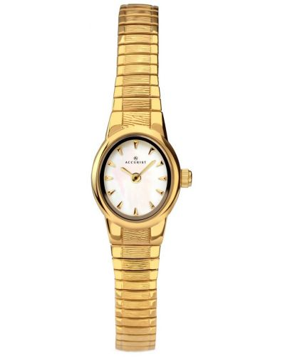 Womens Accurist Classic Gold plated mother of pearl 8052.00 Watch
