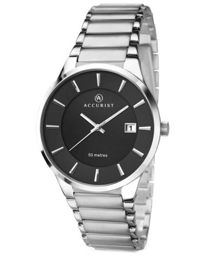 Mens Accurist Classic Silver stainless steel 7007.00 Watch