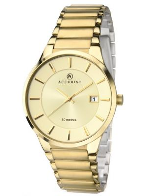 Mens Accurist Classic Gold plated  7008.00 Watch