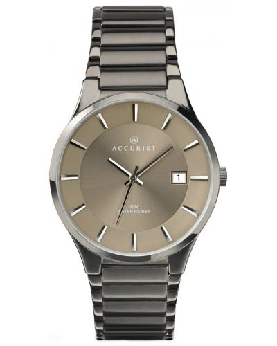 Mens Accurist Classic ivory Stainless steel 7009.00 Watch