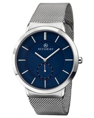 Mens Accurist Classic Silver and blue Milanese 7014.00 Watch
