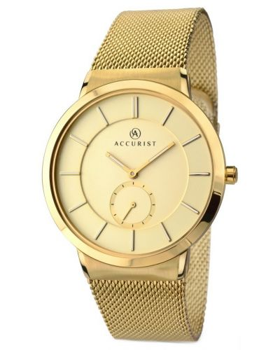 Mens Accurist Classic Gold Milanese bracelet 7015.00 Watch