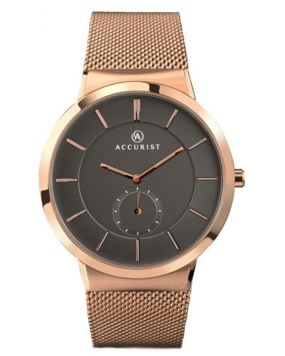 Mens Accurist Classic Rose gold split dial 7016.00 Watch