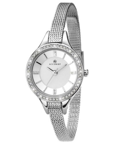 Womens Accurist Contemporary Silver crystal set 8003.00 Watch