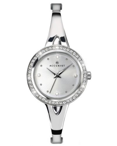 Womens Accurist Contemporary Silver crystal set 8009.00 Watch
