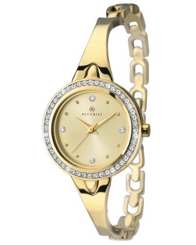 Womens Accurist Contemporary Gold crystal set 8010.00 Watch