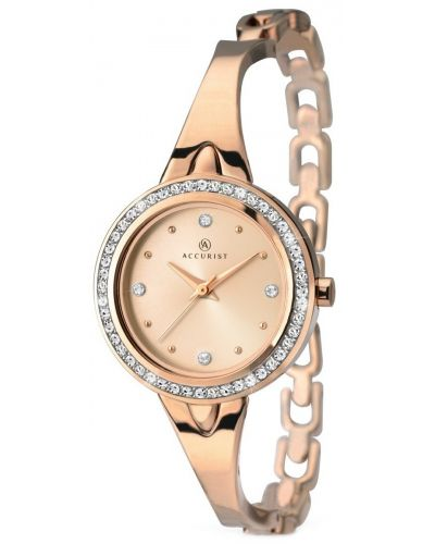 Womens Accurist Contemporary Rose gold crystal set 8011.00 Watch