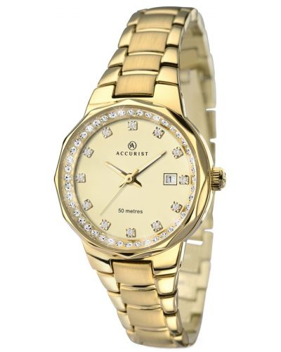 Womens Accurist Contemporary Gold plated  8015.00 Watch