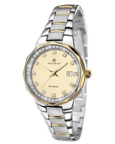 Womens Accurist Contemporary Silver and gold plated 8016.00 Watch