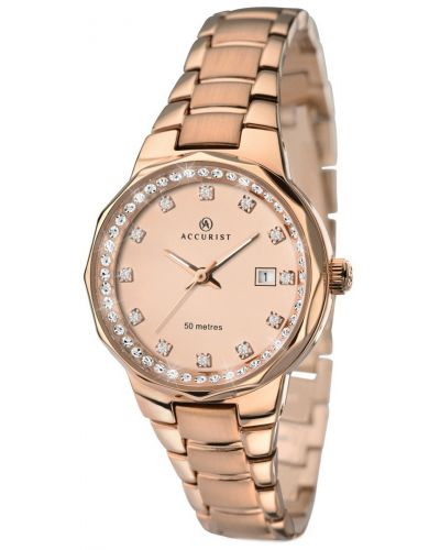 Womens Accurist Contemporary Rose gold plated 8017.00 Watch