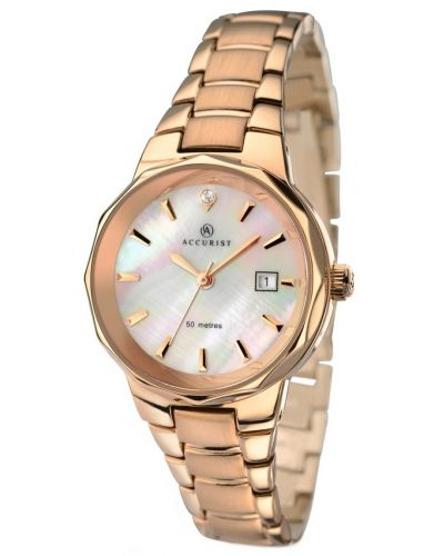 Womens Accurist Classic Rose gold mother of pearl 8020.00 Watch