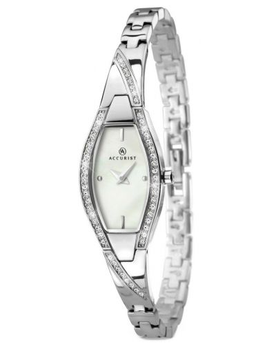 Womens Accurist Dress Crystal set mother of pearl 8027.00 Watch