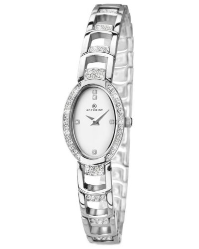 Womens Accurist Dress Silver crystal set 8034.00 Watch