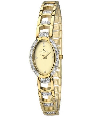 Womens Accurist Dress Gold plated crystal set 8036.00 Watch
