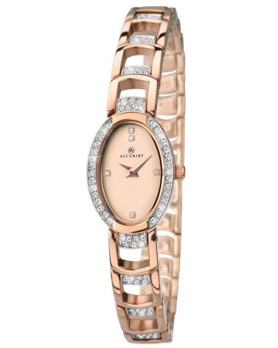 Womens Accurist Dress Rose gold crystal set 8037.00 Watch