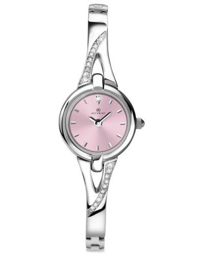 Womens Accurist Dress silver crystal set 8038.00 Watch