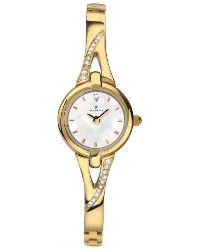 Womens Accurist Dress Gold plated crystal bracelet 8039.00 Watch