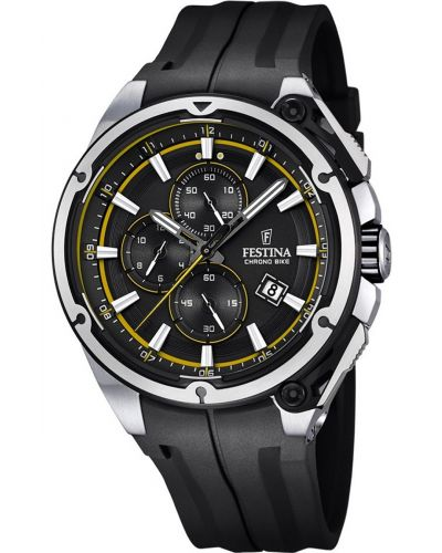 Mens Festina ChronoBike black sports rubber strap F16882/7 Watch