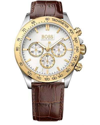 Mens Hugo Boss HB3060 Two Tone Leather Strap Chronograph 1513174 Watch