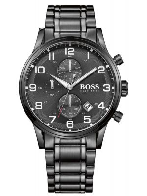 Mens Hugo Boss Aeroliner Black stainless steel chronograph 1513180 Watch
