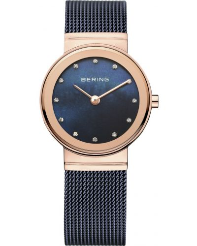 Womens Bering Classic Blue stainless steel milanese strap 10126-367 Watch