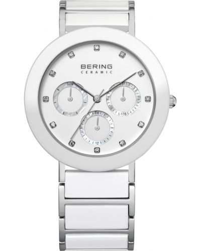 Womens Bering Ceramic white crystal set stainless steel 11438-754 Watch
