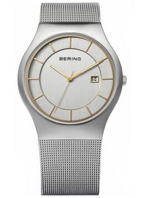 Mens Bering Classic Stainless steel Milanese strap 11938-001 Watch