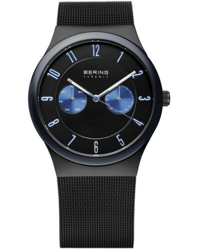 Mens Bering Ceramic black milanese strap 32139-227 Watch