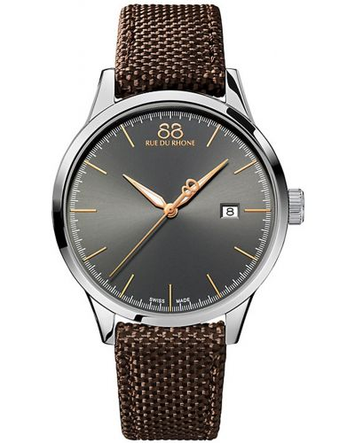Mens 88 Rue Du Rhone Rive grey sunray dial 87WA154109 Watch