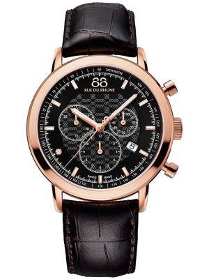 Mens 88 Rue Du Rhone 42mm Quartz Chronograph swiss made 87WA154207 Watch