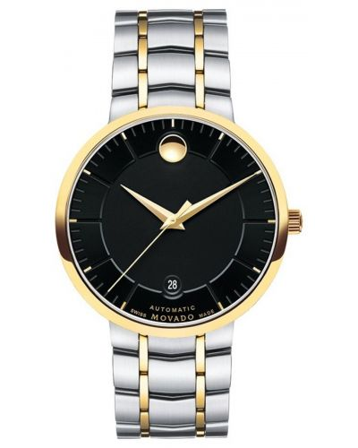 Mens Movado 1881 Automatic gold highlighted dress 606916 Watch