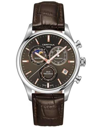 Mens Certina DS-8 chrono leather moon phase C0334501608100 Watch