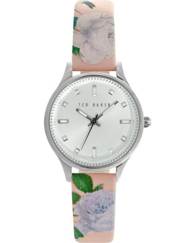 Womens Ted Baker floral design pink leather strap TE10025271 Watch