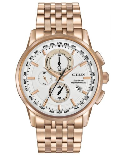 Mens Citizen World Time A-T rose gold AT8113-55A Watch
