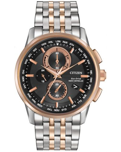 Mens Citizen World Time A-T rose gold stainless steel AT8116-57E Watch