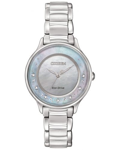 Womens Citizen Circle Of Time diamond set stainless steel EM0380-81N Watch