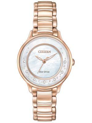 Womens Citizen Circle Of Time rose gold diamond set EM0382-86D Watch