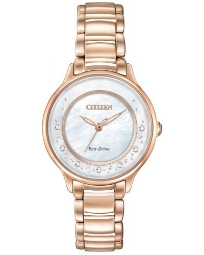 Womens Citizen Circle Of Time rose gold diamond set EM0382-86D Watch