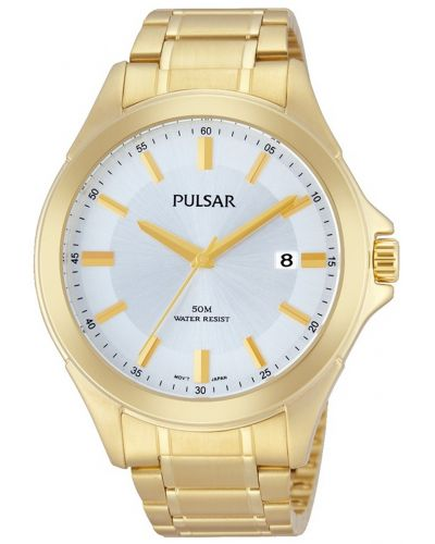 Mens Pulsar  Dress Wear gold plated stainless steel PS9306X1 Watch