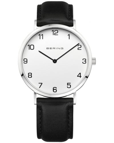 Mens Bering Classic plain calfskin leather strap 13940-404 Watch
