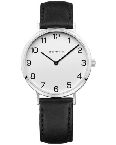 Womens Bering Classic black calfskin leather strap 13934-404 Watch