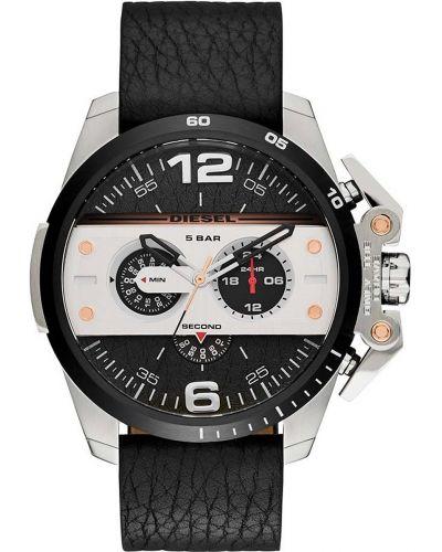Mens Diesel Ironside stainless steel black leather strap DZ4361 Watch