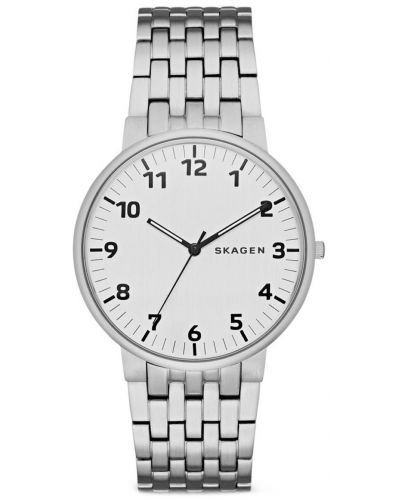 Mens Skagen Ancher plain stainless steel SKW6200 Watch