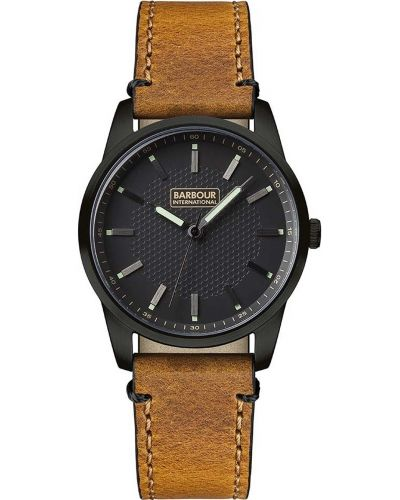 Mens Barbour Jarrow classic tan leather strap bb026bktn Watch
