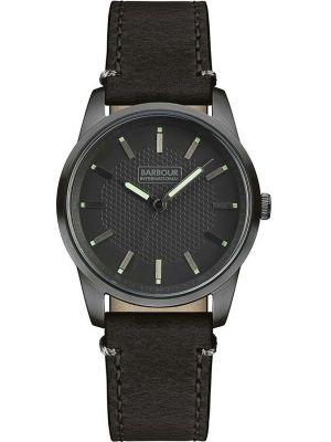 Mens Barbour Jarrow classic black steel bb026gnbk Watch