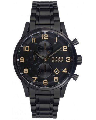 Mens Hugo Boss Aeroliner black ion plated sports 1513275 Watch